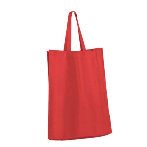 Красная холщовая сумка модель 2