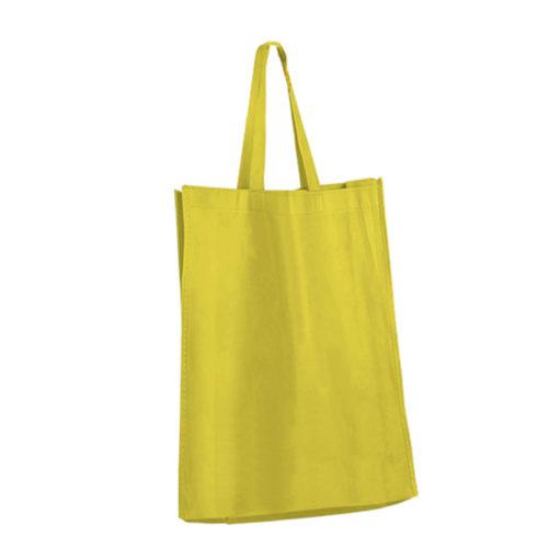 Желтая холщовая сумка модель 2 3