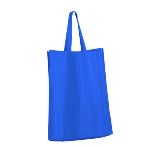Синяя холщовая сумка модель 2 1
