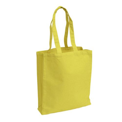 Желтая холщовая сумка модель 3 4