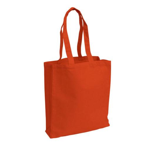 Красная холщовая сумка модель 3 3