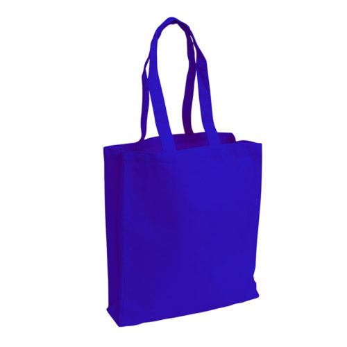 Синяя холщовая сумка модель 3 2
