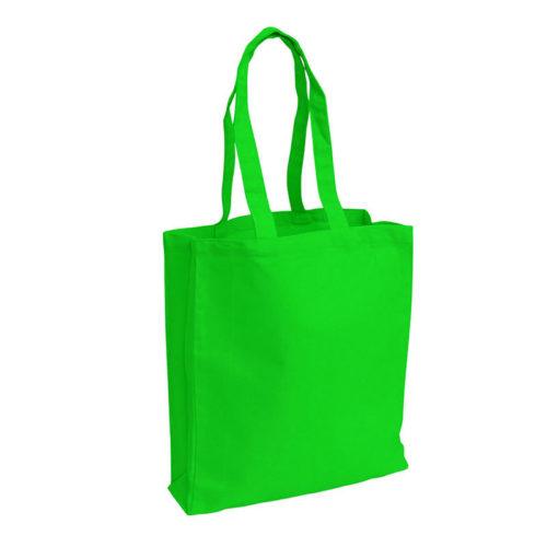 Зеленая холщовая сумка модель 3 1