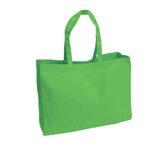 Зеленая холщовая сумка модель 4 5