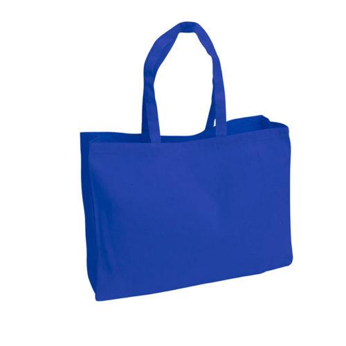 Синяя холщовая сумка модель 4 4