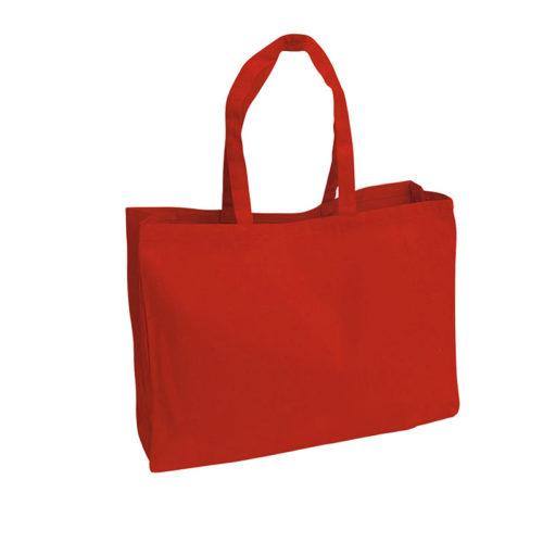 Красная холщовая сумка модель 4 3