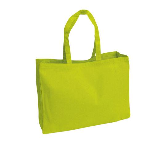 Желтая холщовая сумка модель 4