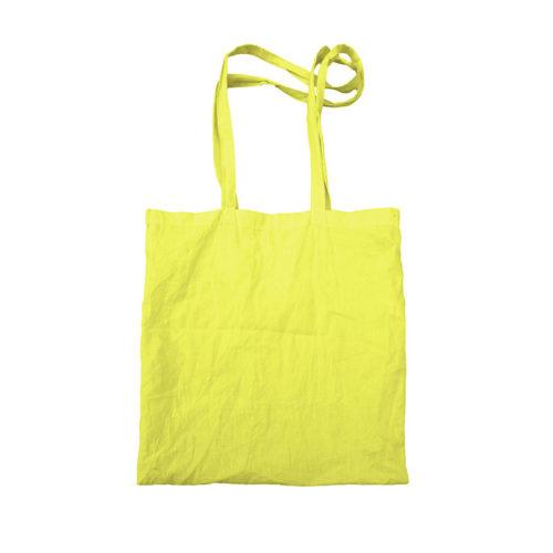 Желтая холщовая сумка модель 5 5