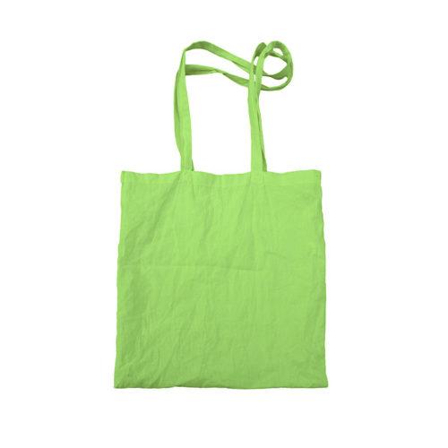Зеленая холщовая сумка модель 5 3