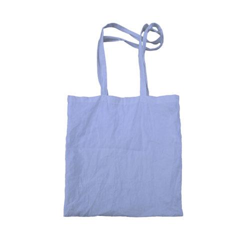 Синяя холщовая сумка модель 5 2
