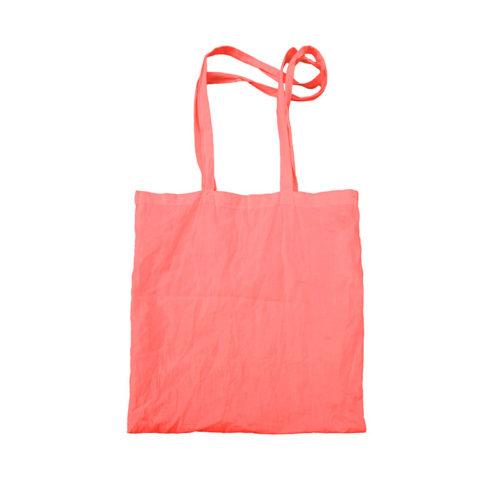 Красная холщовая сумка модель 5