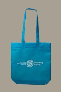Промо сумка голубая