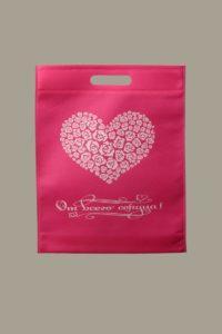 Промо сумка розовая